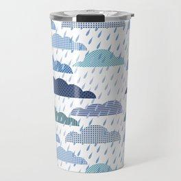 Rainy seamless pattern with clouds Travel Mug