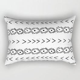 mudcloth 5 minimal textured black and white pattern home decor minimalist Rectangular Pillow