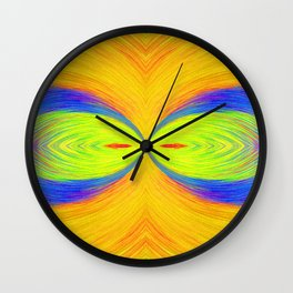 Wacky and Wild Big Eyes by annmariescreations Wall Clock