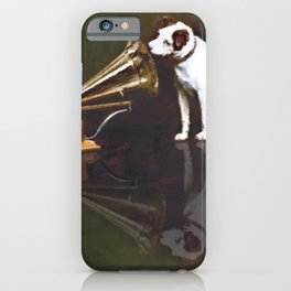 His Master's Voice Vintage Animal Digital Watercolor iPhone Case