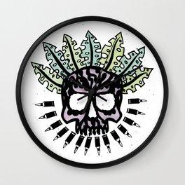 Jungle Bullet Skull Wall Clock