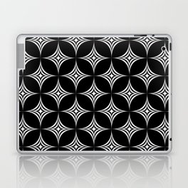 Large White Star Geometric Background Repeating Pattern Laptop & iPad Skin