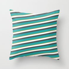 diagonal striped shirt Throw Pillow