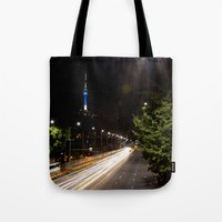seoul Tote Bags featuring Seoul Tower by Marisa Johnson :: Art & Photography