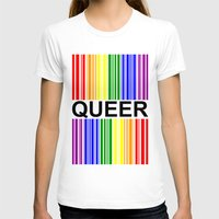 queer T-shirts featuring QUEER UPC by SLANTEDmind.com
