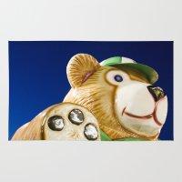 teddy bear Area & Throw Rugs featuring Teddy Bear by Luc Girouard