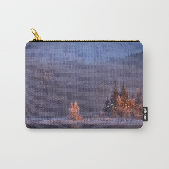 Canadian winter landscape Carry-All Pouch