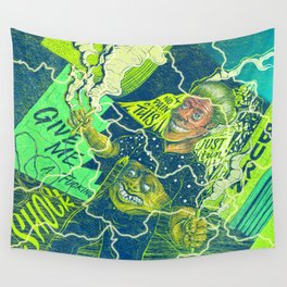 Acid Electric Burn Wall Tapestry