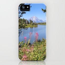 Teton Flowers iPhone Case