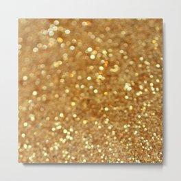 Glittered Gold Metal Print