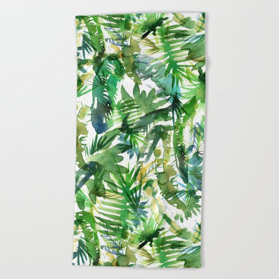 VIBE of the Jungle  {A-green} Beach Towel