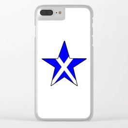 flag of scotland 8– scotland,scot,scottish,Glasgow,Edinburgh,Aberdeen,dundee,uk,cletic,celts,Gaelic Clear iPhone Case