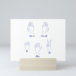 Wax On, Wax Off, Roshambo Mini Art Print