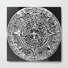 Aztec Sunstone Piedra Del Sol Art Print Metal Print