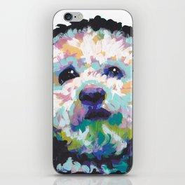 maltese poodle Maltipoo Dog Portrait Pop Art painting by Lea iPhone Skin