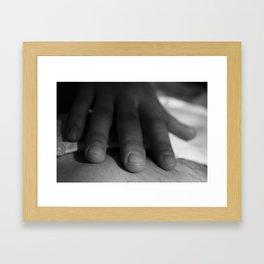 Loving hands Framed Art Print