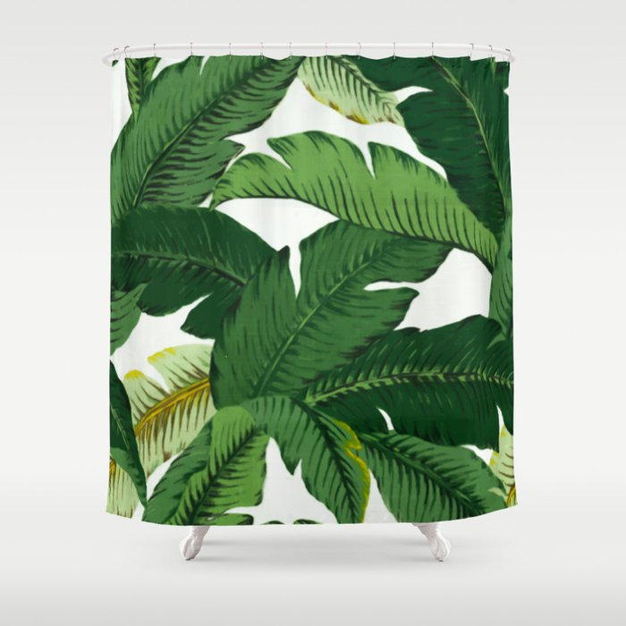 banana leaves Shower Curtain by huntleigh | Society6