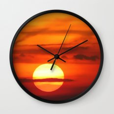 Sunset at Devil's Dyke (UK) Wall Clock