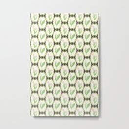 Spring Flowers Tulips and Lily of the Valley Illustrated Pattern Print Metal Print
