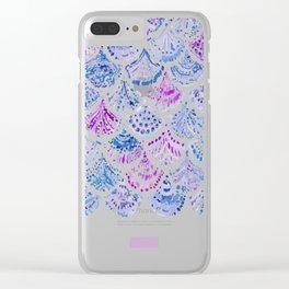 OCEAN PROTECTRESS Lavender Mermaid Scales Clear iPhone Case