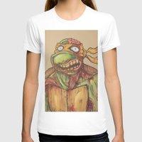ninja turtle T-shirts featuring zombie ninja turtle by mileshustonart