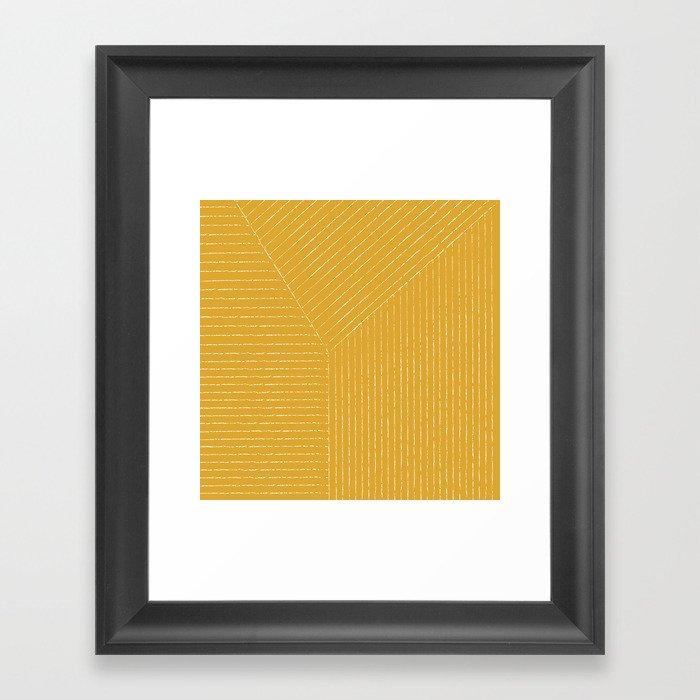 Lines (Yellow) Gerahmter Kunstdruck