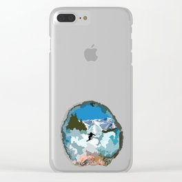 The Skier Clear iPhone Case