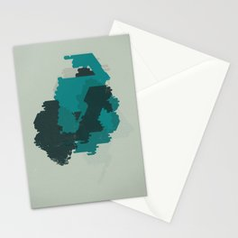 Geometric Mapping #1 • by Secret Peak Stationery Cards
