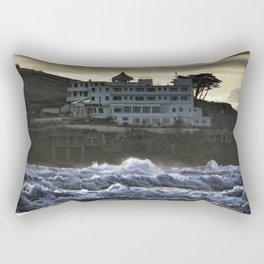 Stormy Burgh Island Hotel Rectangular Pillow