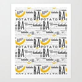 Minion - banana Art Print