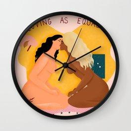 Loving as Equals Wall Clock
