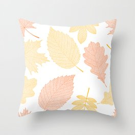 tree leaves 6 77 Autumn colors Throw Pillow