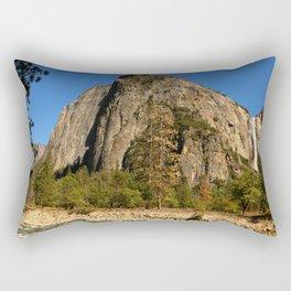 Peaceful Yosemite Valley Scene Rectangular Pillow