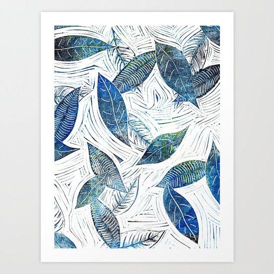 Blue Days of Winter Art Print