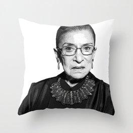 Ruth Bader Ginsburg Dissent Collar RBG Throw Pillow