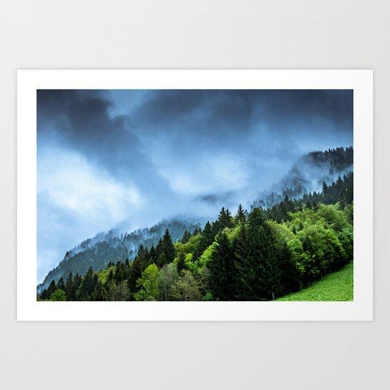 Landscape fog #society6 Art Print