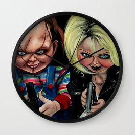 Chucky & Tiffany Wall Clock