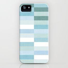 Color Block Stripe in Mint Blue iPhone Case
