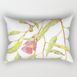 Flowering eucalyptus tree branch Rectangular Pillow