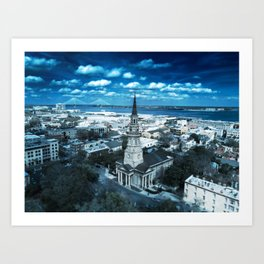 Saint Philip's Church in Blue Art Print