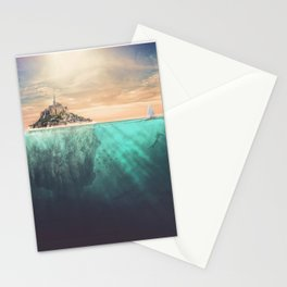 The Real Mont Saint Michel Stationery Cards