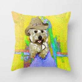 West Highland White Terrier - Ready To Go? Throw Pillow