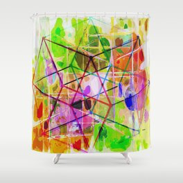 Two Tesseracts Shower Curtain