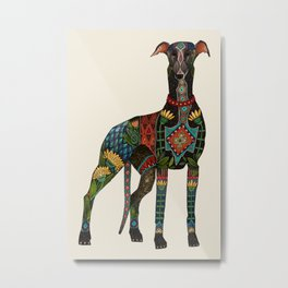 greyhound ivory Metal Print