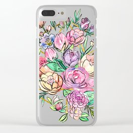 Floral Geometry Clear iPhone Case