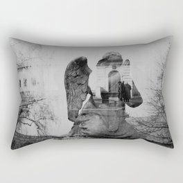 Angel. Novodevichy convent. Moscow. Rectangular Pillow