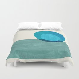 Stacking Pebbles Blue Duvet Cover