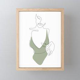 Olive Line Framed Mini Art Print