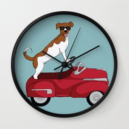 Driving Dog Wall Clock