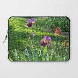 Mauve Iris and Torch Lillies.... Laptop Sleeve